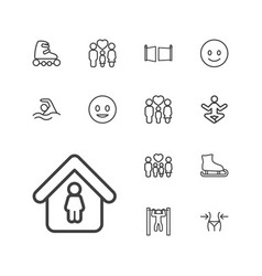 13 figure icons vector