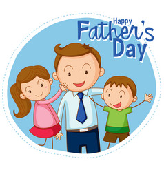 a happy fathers day banner vector image