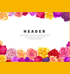 a5 size horizontal flyer template with lots vector image