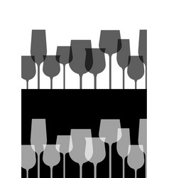 abstract alcohol wine glass with black and white vector image