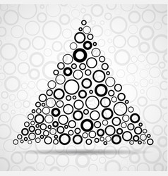 abstract triangle of circles vector image