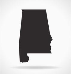 Alabama al state map shape simplified vector