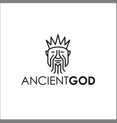 Ancient god logo vector