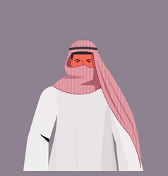 Arabic man in traditional clothes arab male vector