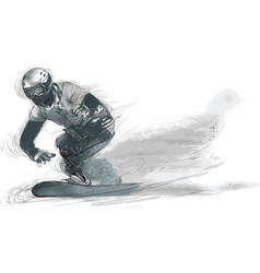 athletes with physical disabilities - snowboard vector image