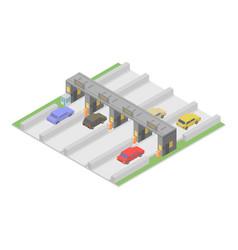 Autobahn icon isometric style vector