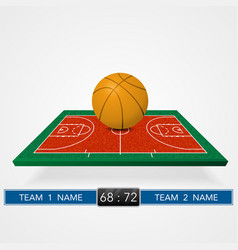 Basketball court background vector