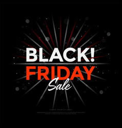 black friday sale poster design with lights bokeh vector image