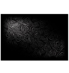 Black Vintage Wallpaper with Triangle Spiral vector image