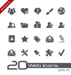 Blog Internet Basics Series vector image