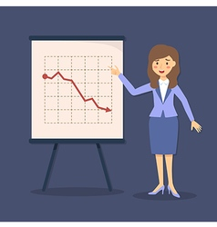 Blue Businesswoman Presentation Falling vector