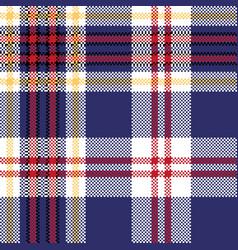 Blue tartan plaid seamless fabric texture vector