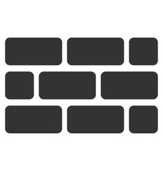 Brick Wall Flat Icon vector image