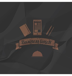 Business menu simple flat style vector image