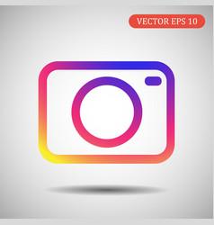 Camera icon of eps 10 vector