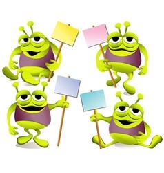 Cartoon green monsters vector image