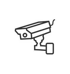 cctv video surveillance graphic design element vector image