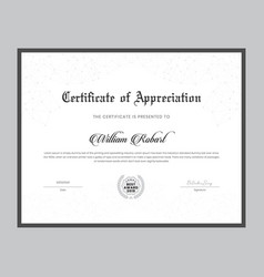 certificate template with clean and modern style vector image
