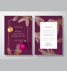 Christmas and new year abstract greeting vector