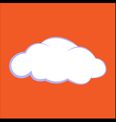 cloud icon clouds on an vector image
