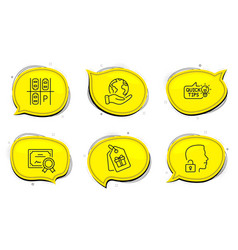 Coupons parking place and education idea icons vector