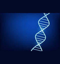 dark blue glowing background with dna molecular vector image