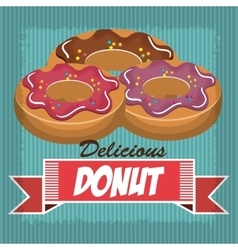 delicious and sweet donut isolated icon design vector image