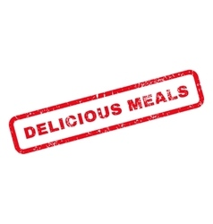 Delicious Meals Text Rubber Stamp vector