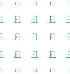 Door icon pattern seamless white background vector