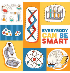 Education and science concept motivatng text vector