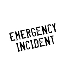 Emergency Incident rubber stamp vector