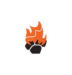 Fire flame icon logo design template vector