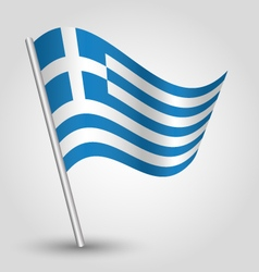 Flag greece vector
