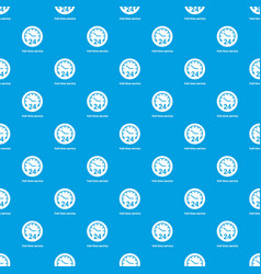Full time service pattern seamless blue vector