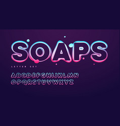 funny soap alphabet uppercase letter set vector image