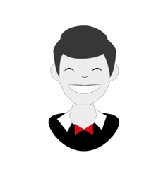 Gentleman comic character icon vector
