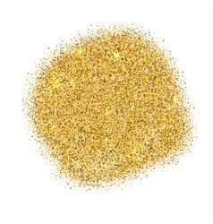 gold sparkles on white background gold glitter vector image
