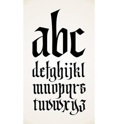 gothic font alphabet vector image vector image