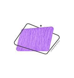 Grunge textured geometric badge of ultra violet vector