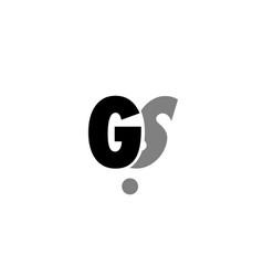 Gs g s black white grey alphabet letter logo icon vector