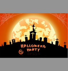 halloween festival background vector image