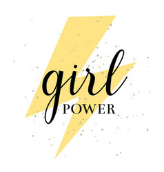 hand drawn lettring girl power isolated on vector image