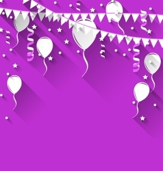 Happy birthday background with balloons and vector