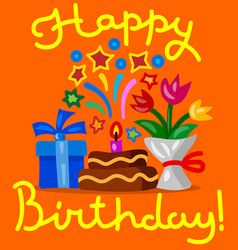 happy birthday congratulations vector image