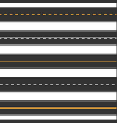 Horizontal straight seamless roads modern asphalt vector