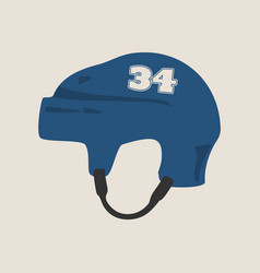 ice hockey helmet vector image