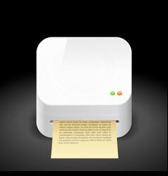 Icon for printer vector