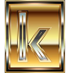 Ingot Font Letter k vector
