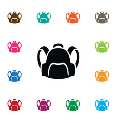 isolated satchel icon backpack element c vector image