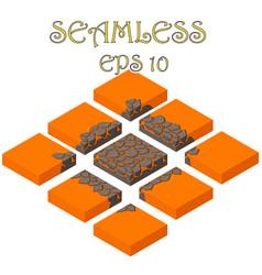 Isometric lava cube seamless vector